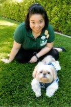 Karine Ng, Founder of Central Park Pups with her muse, Chewie